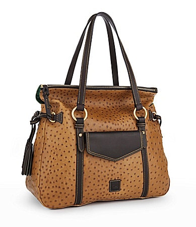 Dooney & Bourke Ostrich-Embossed Smith Pocket Satchel