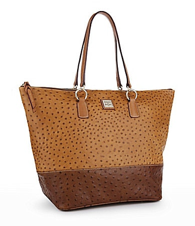 Dooney & Bourke Ostrich Embossed O-Ring Shopper