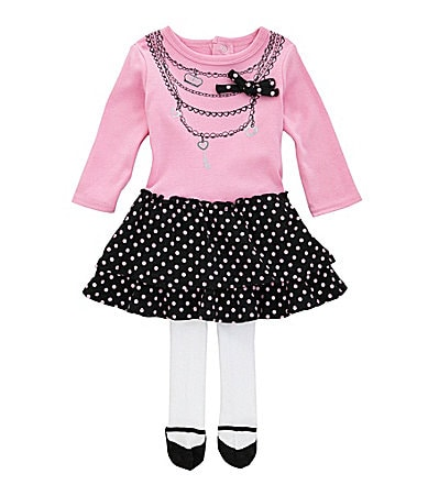 Baby Essentials Newborn Necklace Drop-Waist Dress