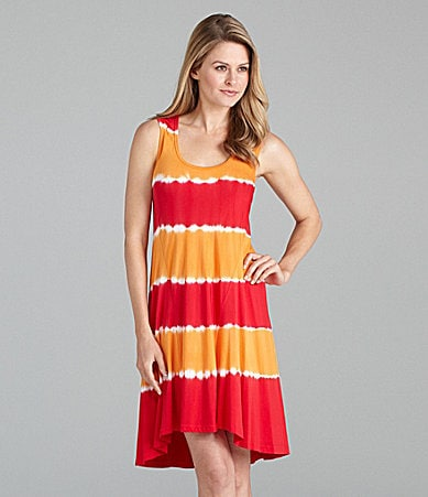 Calvin Klein Tie-Dye High-Low Dress