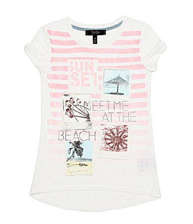 Jessica Simpson Tweenwear 7-16 Meet Me At The Beach Graphic Tee