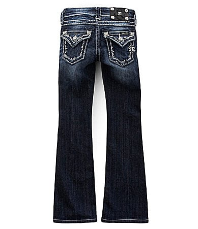 Miss Me Jeans 7-14 Stitched Flap-Pocket Jeans