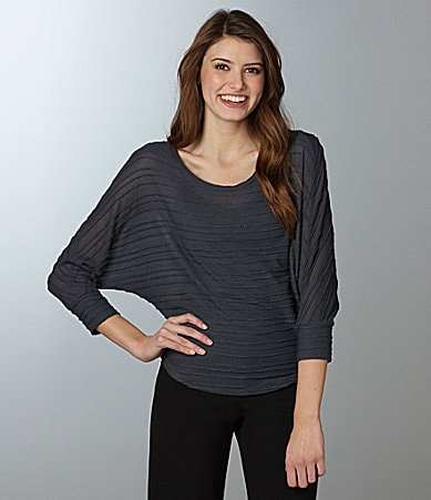 Eyeshadow Pintuck Dolman Top