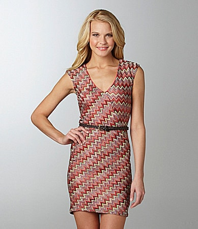 B. Darlin Zigzag Striped Dress
