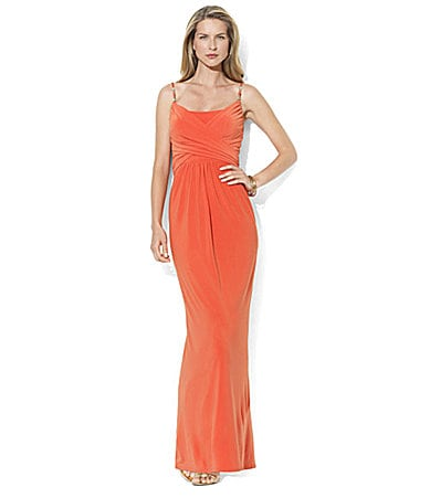 Lauren Ralph Lauren Dress Beaded Matte Jersey Maxi Dress