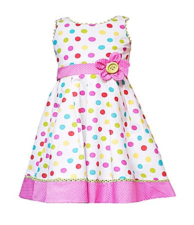 Rare Editions Infant Dot Print Dress