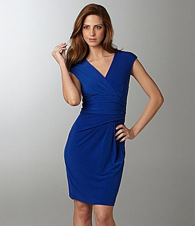 Calvin Klein V-Neck Jersey Dress