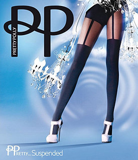 Pretty Polly Suspender Tights Image