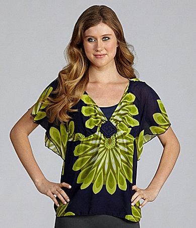 Soulmates Printed V-Neck Top