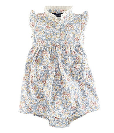 Ralph Lauren Childrenswear Infant Floral Mesh Dress