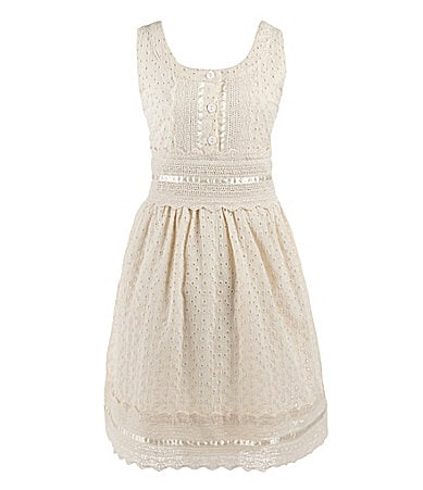 Lemon Fizz 7-16 Eyelet Dress