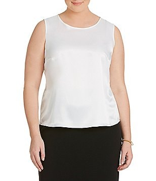 Kasper Plus Charmeuse Top