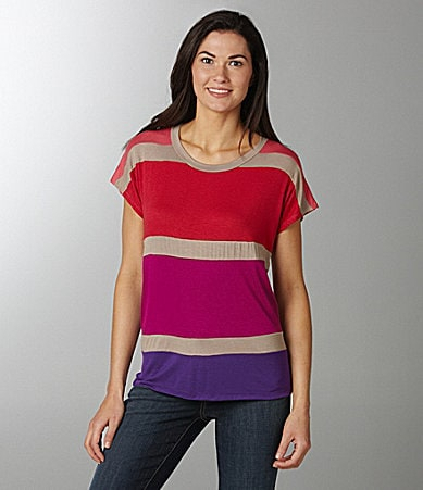Bobeau Colorblock Tee