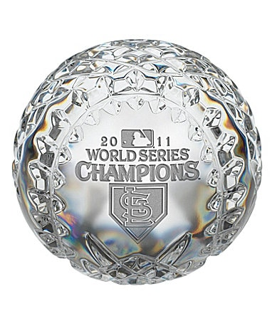 Waterford St. Louis Cardinals 2011 World Series Championship Crystal Baseball