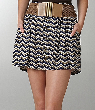 Stoosh Zigzag Striped Skirt