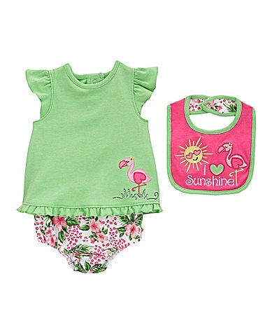 Starting Out Newborn Tropical Flamingo 3-Piece Set