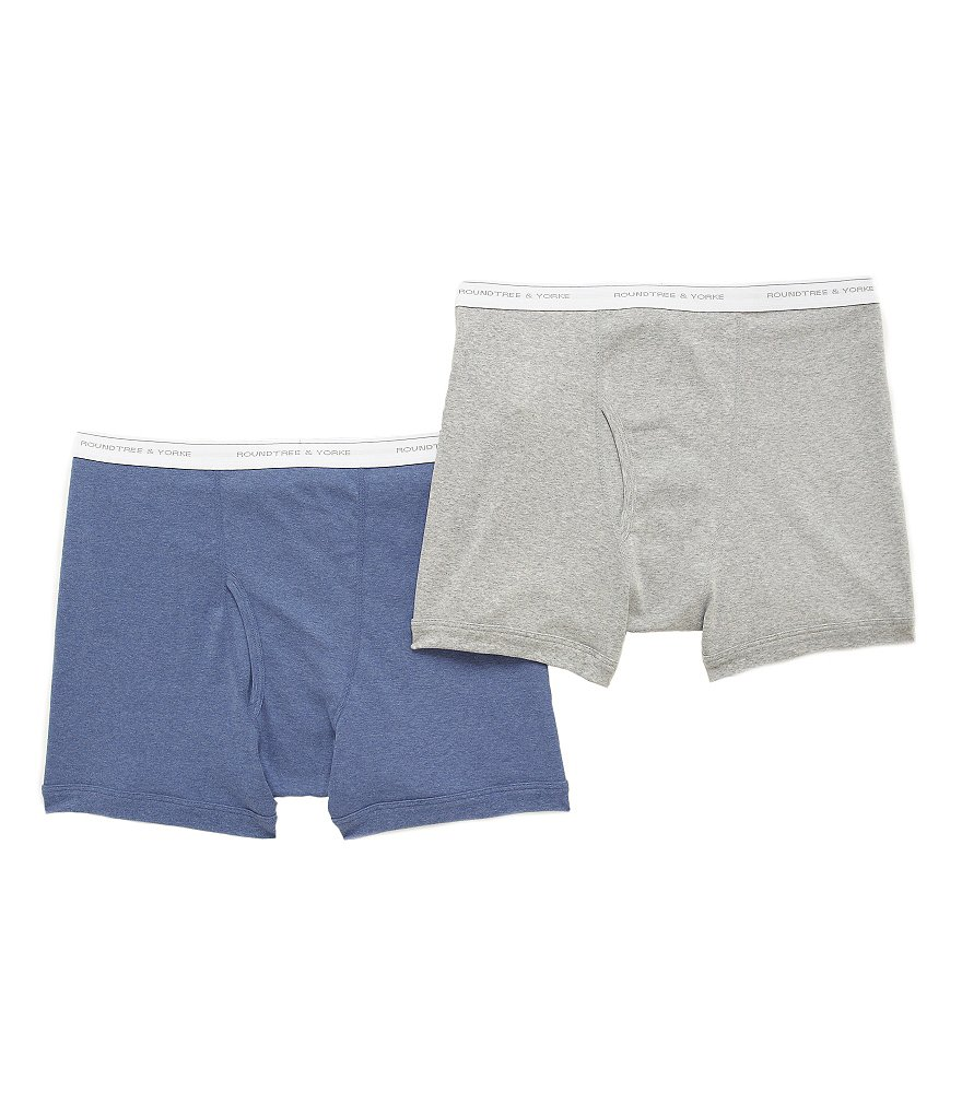 Roundtree & Yorke Big & Tall Boxer Briefs 2-Pack