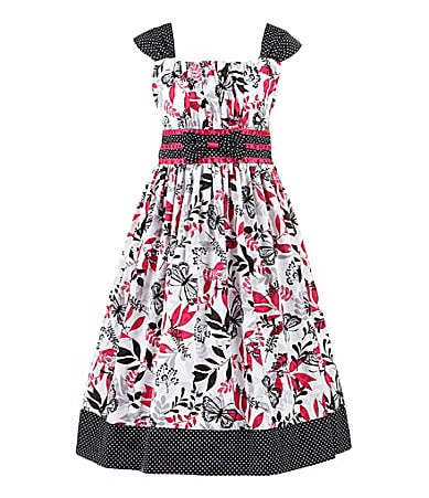 Jayne Copeland 7-12 Dot & Butterfly Dress