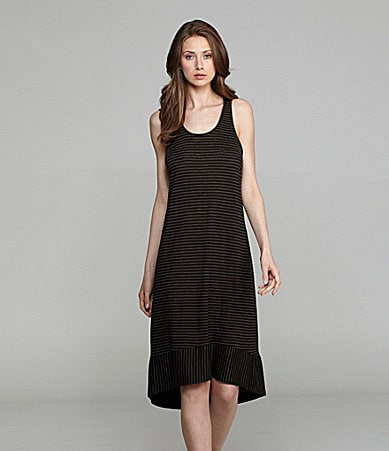 Eileen Fisher Racerback Hi-Low Stripe Dress