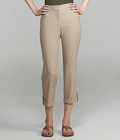 Eileen Fisher Petites Cropped Cotton-Canvas Pants