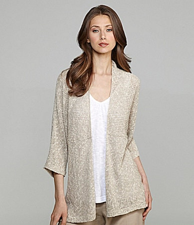 Eileen Fisher Linen-Blend Cardigan