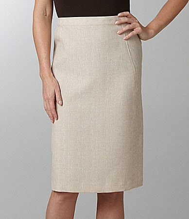 Samantha Grey Straight Pencil Skirt