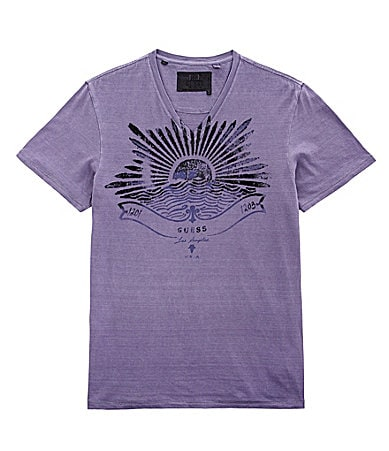 Guess Meadow Slub V-Neck Tee