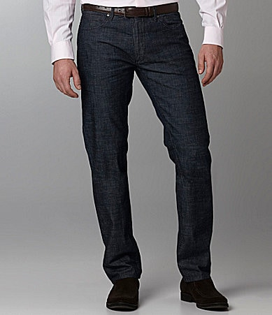 Perry Ellis Slim-Fit Lightweight Dark Denim Jeans