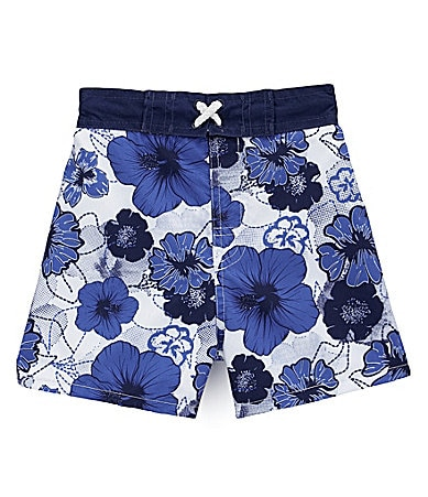 Mick Mack Infant Hibiscus Printed Swim Trunks
