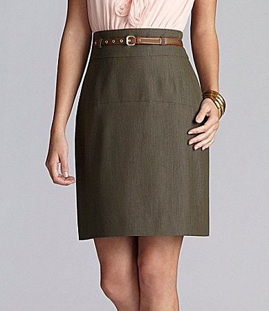 Gianni Bini Callie Belted Skirt