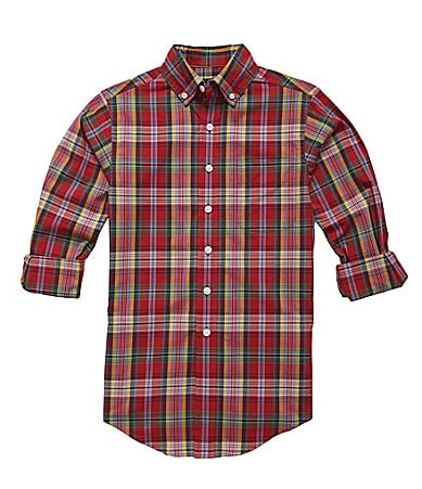Class Club 8-20 Madras Plaid Shirt