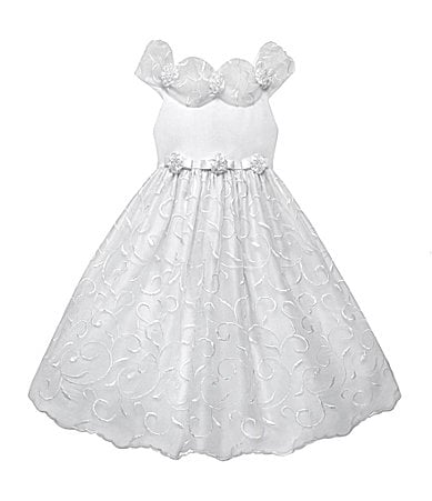 American Princess 7-12 Embroidered Organza Dress
