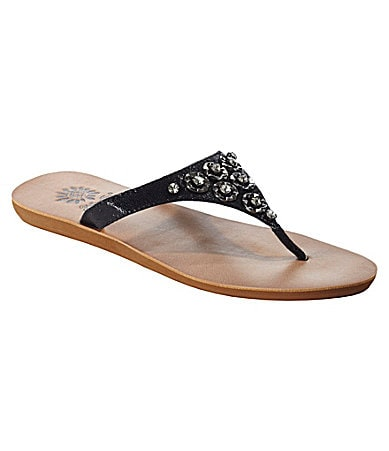 Yellow Box Miki Flip Flops