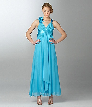 Jessica McClintock X-Back Chiffon Dress