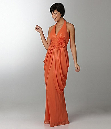 Jump Draped Halter Dress