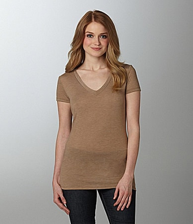 Copper Key V-Neck Top