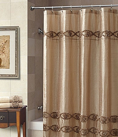 Floral dresses dillards shower curtains for Dillards bathroom accessories sets
