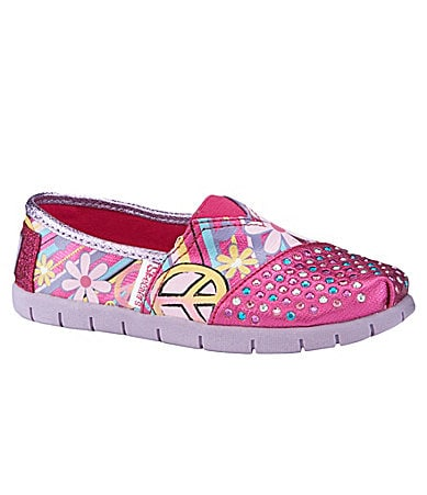 Skechers Girls Twinkle Toes: Shuffle Up Slip-On Shoes