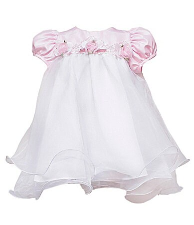 Rare Editions Infant Shantung/Organza Dress