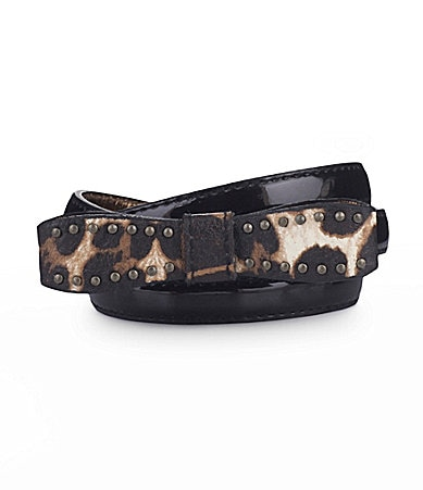 Jessica Simpson Leopard Bow Belt