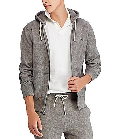 polo ralph lauren classic solid fleece hoodie jacket. Black Bedroom Furniture Sets. Home Design Ideas