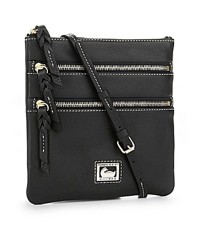 Dooney & Bourke Dillen Leather Triple Zip Cross-Body Bag