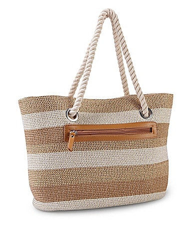 Magid East/West Straw Tote