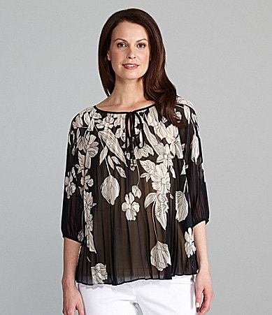 Investments II Sunburst Pleated Blouse