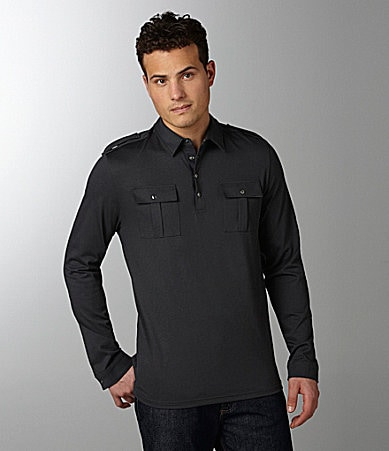 Calvin Klein Snap-Button Polo Shirt