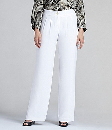 Louben Soft Silk Wide-Leg Pants