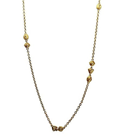 T Tahari Python Essentials Long Goldtone Necklace
