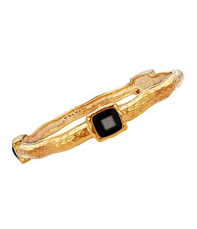 T Tahari Python Essentials Black Bangle Bracelet