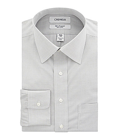 Cremieux Checked Spread-Collar Dress Shirt
