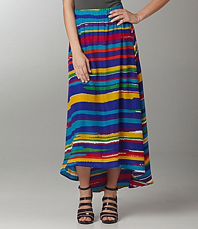 ECI Paint-Stripe Hi-Low Skirt